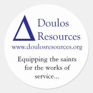 Doulos Resources Round Sticker