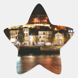 Douro river in Porto, Portugal Star Sticker