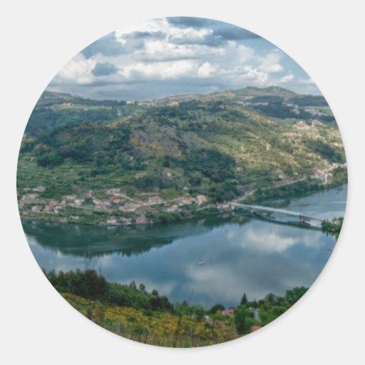 Douro Valley Classic Round Sticker