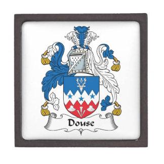 Douse el escudo de la familia cajas de joyas de calidad