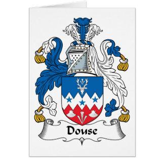 Douse el escudo de la familia felicitaciones