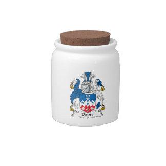 Douse el escudo de la familia jarras para caramelos