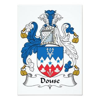 Douse el escudo de la familia invitación 12,7 x 17,8 cm