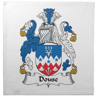 Douse el escudo de la familia servilletas imprimidas