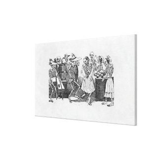D'outretombe de Calavera du jarabe Impresión En Lienzo