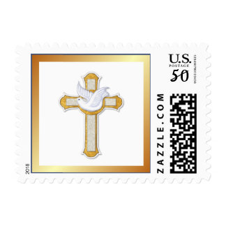 Dove and Cross Postage