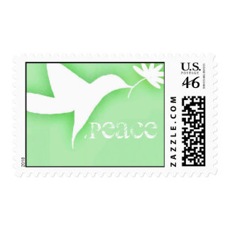 dove and flower customizable stamp