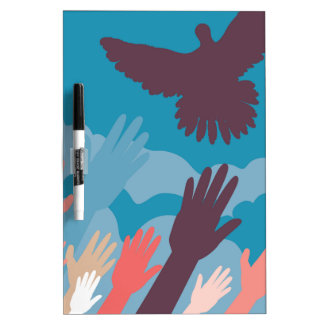 Dove and Hands 3 Dry-Erase Board