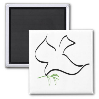 Dove and Olive Branch Image Magnet