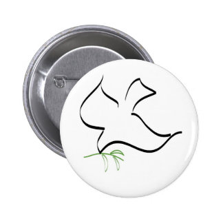 Dove and Olive Branch Image Pinback Button