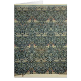 Dove and Rose' fabric design, c.1879 Card