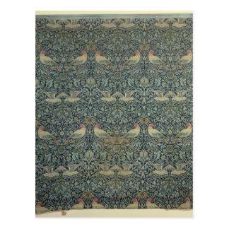 Dove and Rose' fabric design, c.1879 Postcard
