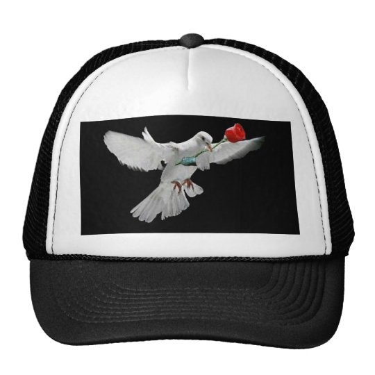 Dove and Rose Trucker Hat
