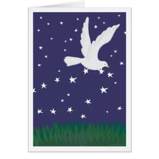 Dove and Stars Christmas card
