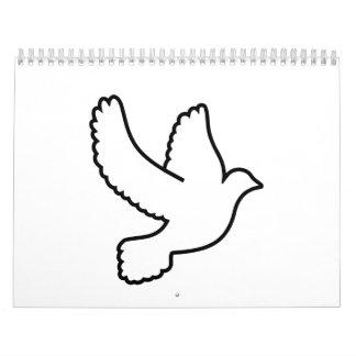 Dove bird calendar