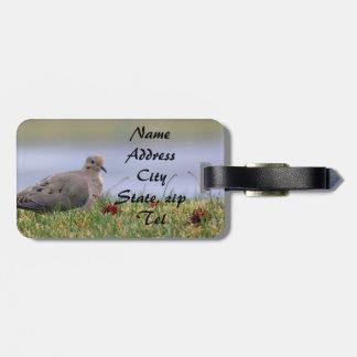 Dove Bird Luggage Tag
