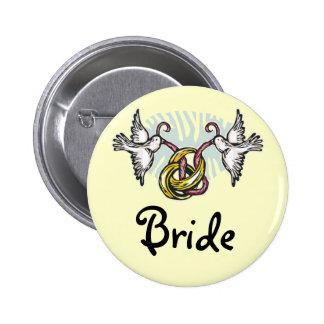 Dove Bride Button