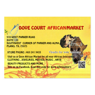 DOVE COURT AFRICAN MARKET CARD DESIGNED MY MOJISOL