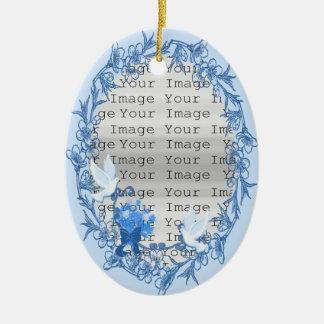 Dove Custom Oval Ornament