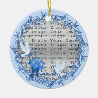 Dove Custom Round Ornament