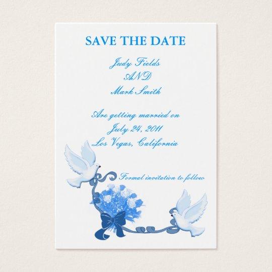 Dove Custom Save The Date Card