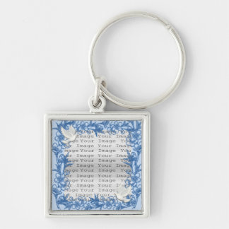 Dove Custom Square Wedding Key Chain