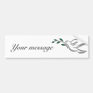 Dove designs bumper sticker