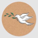 Dove designs round stickers