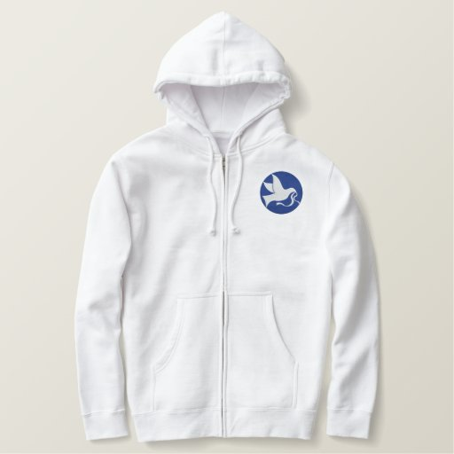 DOVE EMBROIDERED HOODIE