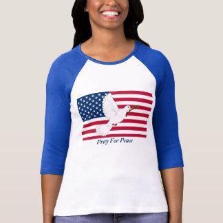 Dove & Flag/ Pray For Peace T-Shirt