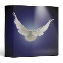 Dove flying through beam of light 3 ring binder