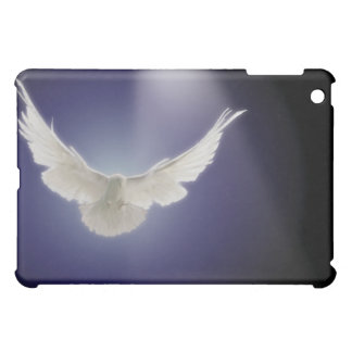 Dove flying through beam of light iPad mini cover