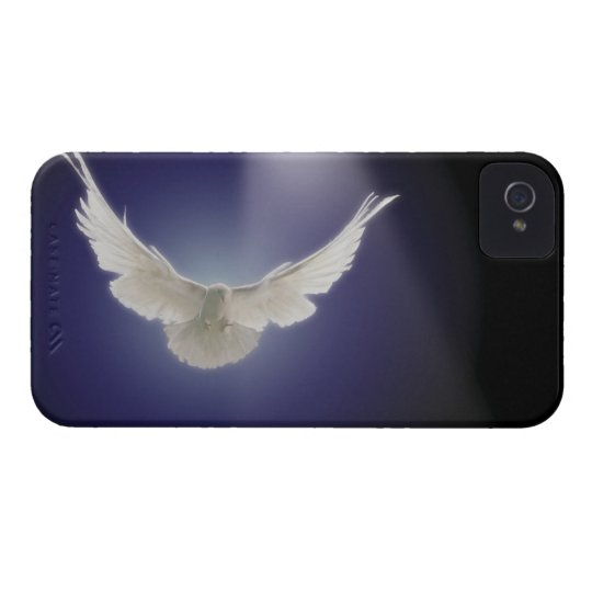 Dove flying through beam of light iPhone 4 Case-Mate case