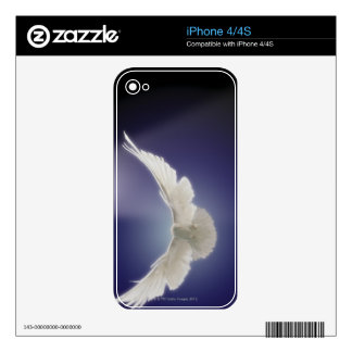 Dove flying through beam of light iPhone 4 skins
