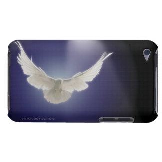 Dove flying through beam of light iPod touch case