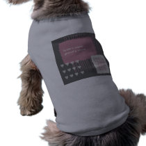 Dove Gray and Pink Wedding Dog T-shirt