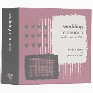 Dove Gray and Pink Wedding Memories Binder
