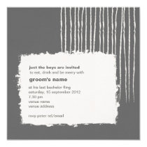 Dove Gray Bachelor Party Invitation