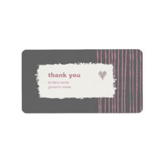 Dove Gray Thank You Gift Sticker