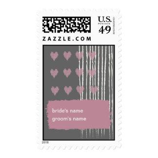 Dove Gray Wedding Stamp
