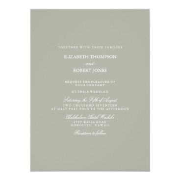 Beach Themed Dove Grey and White Borders and Text Card
