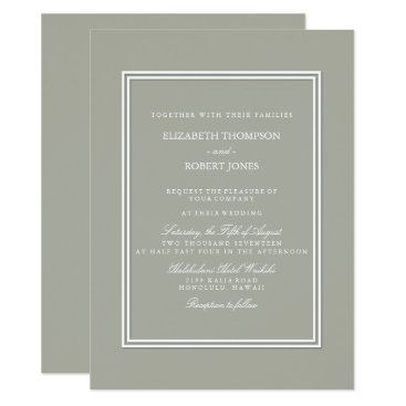 Professional Business Dove Grey and White Borders and Text Card