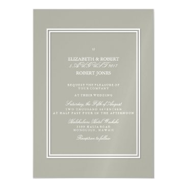 Beach Themed Dove Grey and White Borders and Text Magnetic Card
