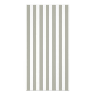 Dove Grey and White Cabana Stripes Card