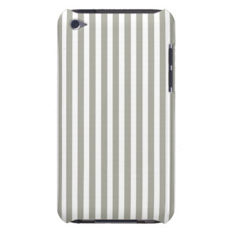 Dove Grey and White Cabana Stripes iPod Touch Cover