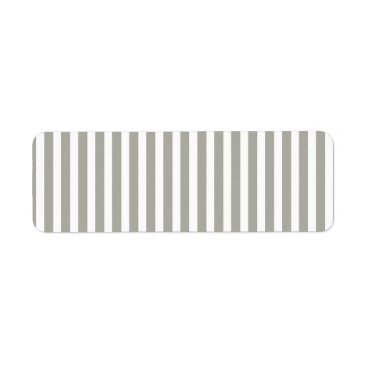 Valentines Themed Dove Grey and White Cabana Stripes Label