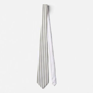 Dove Grey and White Cabana Stripes Tie