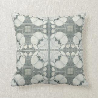 Dove Grey Antique Tiles Throw Pillow