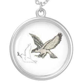 Dove & hawk necklace