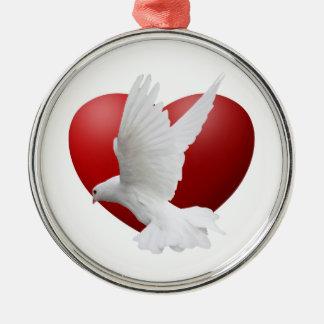 Dove Heart Ornament